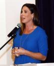 Emily Jones, Texas Rangers Dugout Reporter. Emcee