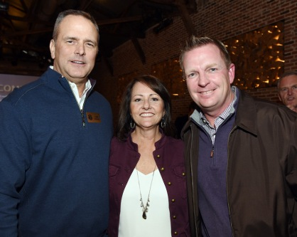 Bobby Bragan CSA Watch List Party. Andy Anthony, left Sherri Taylor and TCU Baseball Coach Jim Schlossnagle