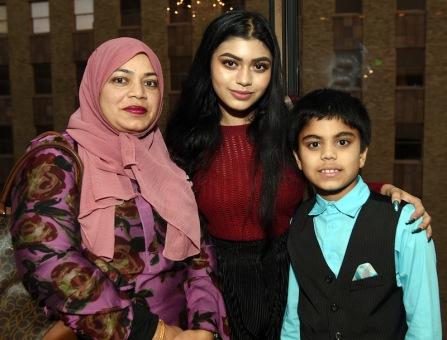 Syeda Afroz, left Shaira Waziullah and Muhammad Nawal